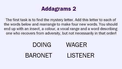 Addagrams 2