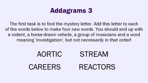 Addagrams 3
